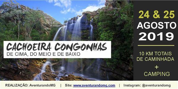 Cachoeira Congonhas na Serra do Cipó e Camping na Duas Pontes