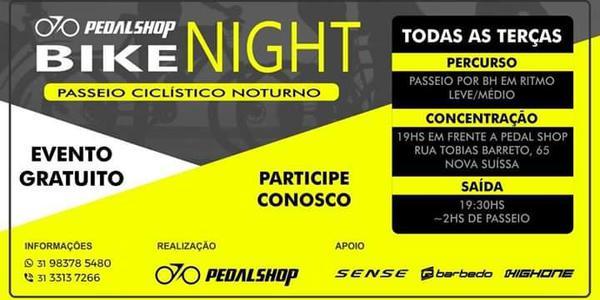 Pedal Shop Bike Night: Praça da Glória Contagem