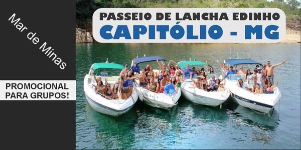 PASSEIO DE LANCHA EDINHO - CAPITÓLIO - MG