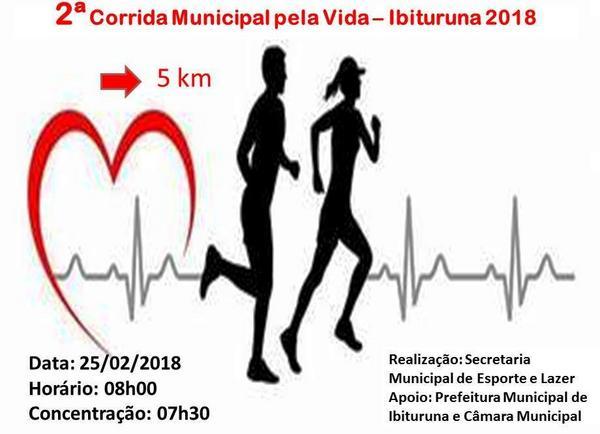 2ª Corrida Municipal Pela Vida - Ibituruna 2018 - 5 km