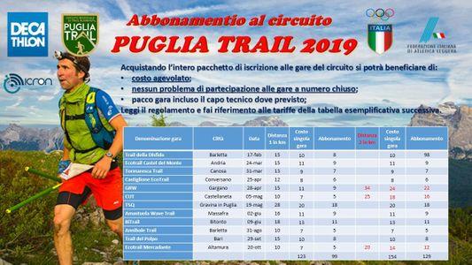PUGLIA TRAIL 2019 - ABBONAMENTI