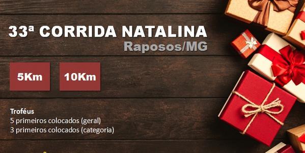 33ª Corrida Natalina - Raposos 2018